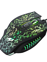 War Wolf 4D Wired Gaming Mouse 2400dpi Backlit Breathing Light for LOL/CF/DOTA