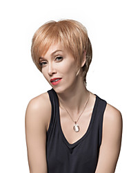 Charming Excellent Short Straight Remy Human Hair Hand Tied -Top Woman's Wigs