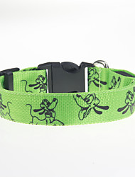 Dog Collar Adjustable/Retractable / LCD Display / Cartoon Design Red / Green / Blue / Pink / Yellow / Orange Nylon