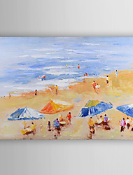 Hand Painted Oil Painting Landscape Summer Beach with Stretched Frame 7 Wall Arts®