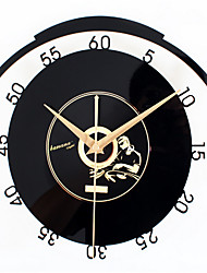 CD Space Music Record Wall Clock