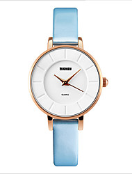 SKMEI® Women's Fashion Dress Watch Ultra-thin Gold Alloy Case Waterproof Fashion Style PU Band Quartz Analog Wrist Watch