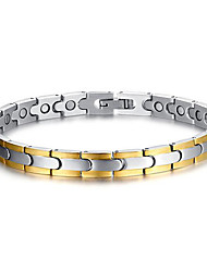 Health Care Silver Stainless Steel Magnetic Therapy Bracelet Unisex Jewelry Fashion Gift