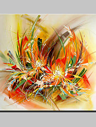 Large Hand Painted Modern Abstract Flowers Oil Painting On Canvas Wall Art Picture With Stretched Frame Ready To Hang