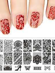 1PC Autocollant d'art de clou Fleur Dessin Animé Adorable Maquillage cosmétique Nail Art Design
