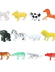 12 Solid Animal Elephant Boar Lion Baboon Hedgehog Mental Sand Table Model Of Children'S Toys Teaching Props