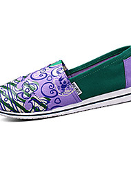 Women's Comfort Fabric Casual Flat Heel Purple