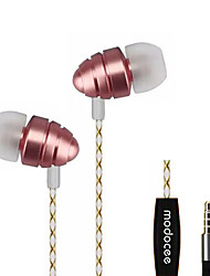MODOCEE R7 Stereo Sport Metal Earphone Headset Hifi Headphones with Microphone for Xiaomi iphone and Android