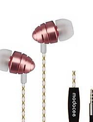 modocee r7 sport stéréo métal écouteurs casque hifi casque avec microphone pour xiaomi iphone et android