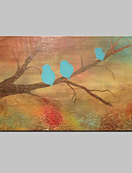 Hand Painted Modern Abstract Bird Animal Oil Painting On Canvas Wall Art With Stretched Frame Ready To Hang