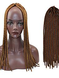 cabelo de crochê trança macio dreadlock havana mambo torção trança 4 cor pura 20 polegadas com gancho de crochet