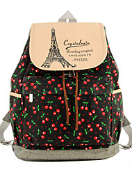 Women Sports / Shopping Canvas Toggle Backpack