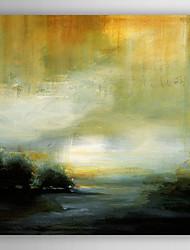 ручная роспись маслом абстрактной желтый море с растянутыми кадр 7 стены arts®