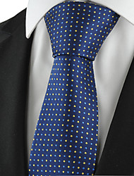 KissTies Men's Tie Blue Polka Dots Necktie With Gift Box Wedding/Business/Party/Cocktail/Casual