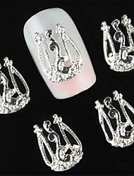 10pcs liga manicure flash de arte acessórios de decoração
