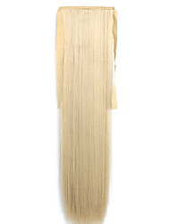 Yellow Straight Blending Long Straight Hair Wig Ponytails 25/613