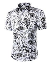 Men's Fashion Personality Printing Short Sleeved Shirt