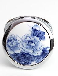 Polvera(Azul) -tema de la vendimia-No personalizado