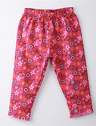Girl's Floral Pants,Cotton Summer Red