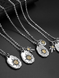 The Camellia Hemp Leaf Pendant Titanium Steel Necklaces