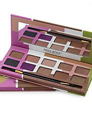 10 Paleta de Sombras Brilho Paleta da sombra Pó Pressionado Normal Maquiagem para Halloween / Maquiagem de Festa