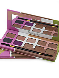 10 Eyeshadow Palette Shimmer Eyeshadow palette Pressed powder Normal