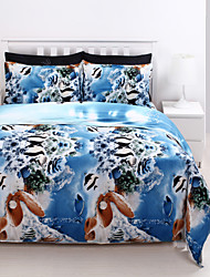 3D (Zufallsmuster) Polyester / Baumwolle 4 Stück Bettbezug-Sets