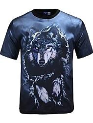 3D-T-Shirt Wolf Print Cosplay Kostüme T-Shirt geeky Kleidung Rundhals kurzen Ärmeln für Männer / Frauen