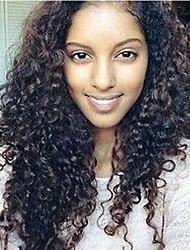 """8 '' - 26 """"pelucas brasileñas virginales del pelo rizo rizado de la peluca del pelo virgen pelucas del frente del cordón de la peluca"""