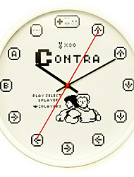Kreisförmig Modern/Zeitgenössisch Wanduhr,Anderen Metall 34*34*8