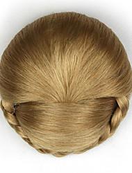 Kinky фигурная золота моды человеческих волос монолитным парики шиньоны 1011