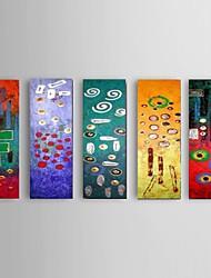 Ручная роспись Абстракция Modern,5 панелей Hang-роспись маслом