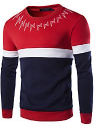 Sets Activewear Pour des hommes Manches longues Décontracté / Grandes Tailles A Motifs / Mosaïque Coton / Polyester