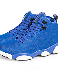 Men's Spring Summer Fall Winter Fabric Lace-up Black Blue Basketball