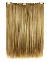 Wig Dark golden 52CM High Temperature Wire Length Straight Hair Synthetic Hair Extension