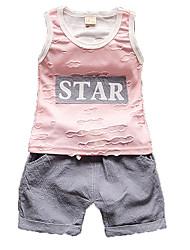 Boy Cotton Clothing Set,Summer Sleeveless