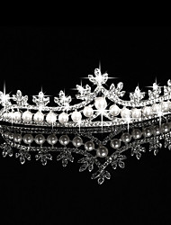 Mujer Diamantes Sintéticos Aleación Perla Artificial Celada-Boda Ocasión especial Al Aire Libre Tiaras 1 Pieza
