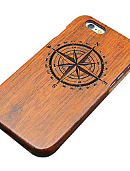 For iPhone 5 Case Embossed / Pattern Case Back Cover Case Wood Grain Hard Wooden for iPhone SE/5s/5
