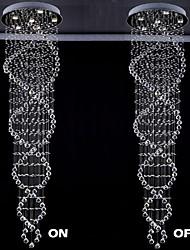 Подвесные лампы ,  Современный Электропокрытие Особенность for Хрусталь Светодиодная лампа МеталлГостиная Спальня Столовая Кухня