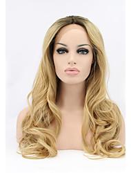 moda sintéticas perucas dianteiras lixívia cor loiro