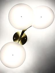 AC 12 6W Интегрированный светодиод Современный Гальванопокрытие Особенность for Мини,Вниз Настенные светильники настенный светильник
