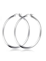 women Titanium Steel SLIVER Hoop Earrings