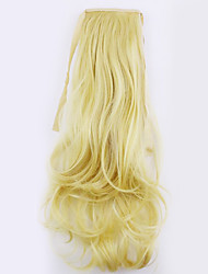 Flaxen and Black Length 50CM Factory Direct Sale Bind Type Curl Horsetail Hair Ponytail(Color 86)