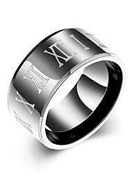 Ringe Alltag Schmuck Stahl Ring 1 Stück,7 8 9 10 Schwarz