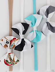 Kid's 4 Pieces Pack Cotton Bow Headband(0-6Years Old)