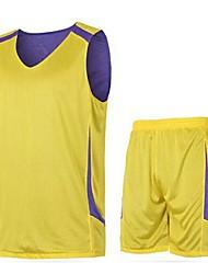 Conjuntos de Roupas/Ternos(Amarelo / Azul) -Homens-Sem Mangas-Respirável / Secagem Rápida / Drenagem