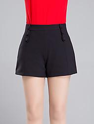 Pantalon Aux femmes Short simple Polyester Micro-élastique