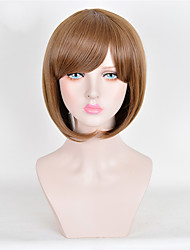 Women's Fashion Short Wig Top Quality Brown Synthetic Wigs