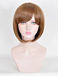 perruques synthétiques brunes de qualité supérieure courte perruque de mode des femmes