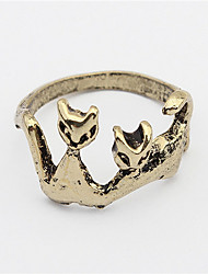 Personalized Cat Retro Metal Ring